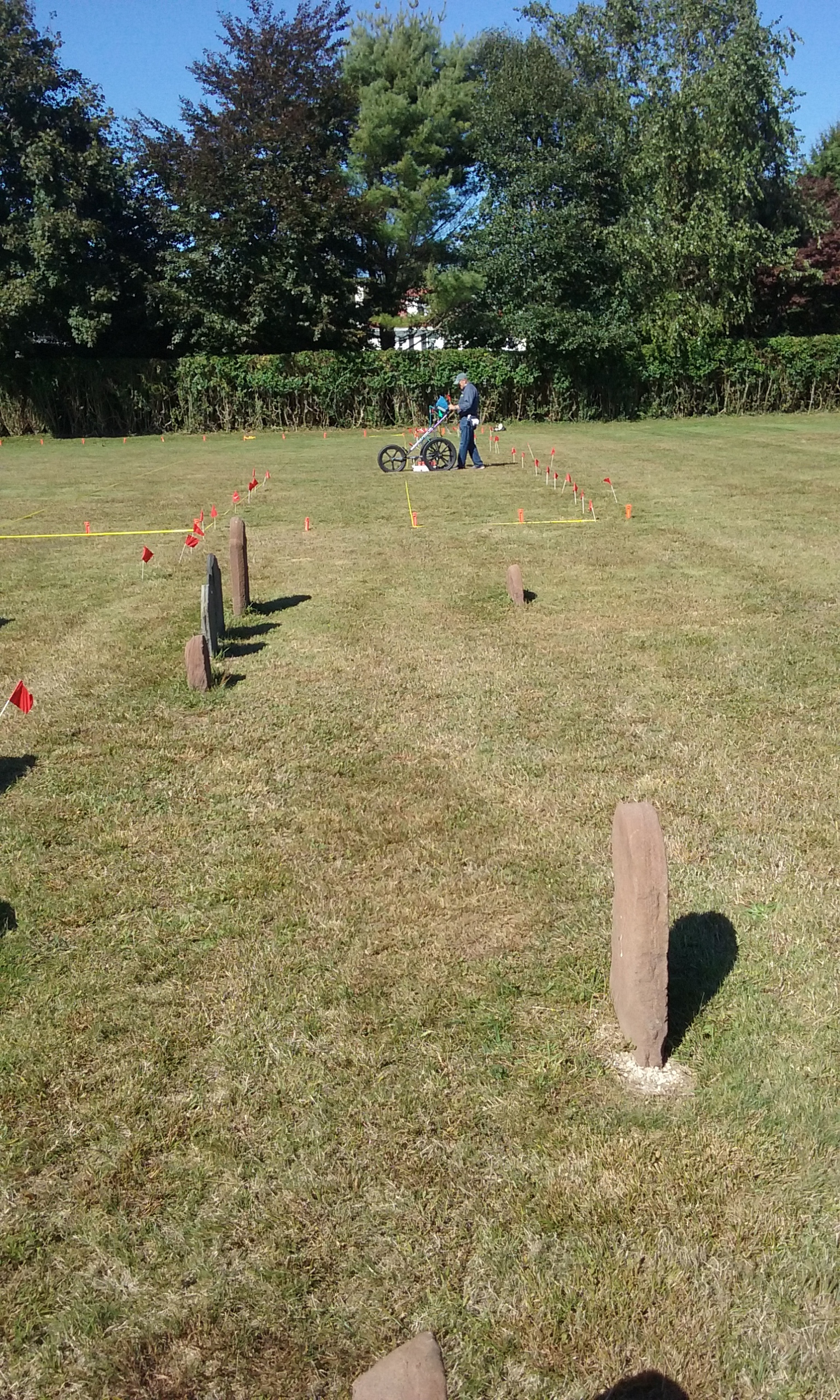 GPR with old gravestones